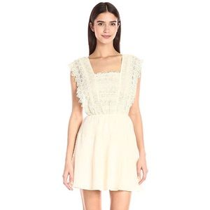 Sleeveless Flora Lace Bodice Fit and Flare Dress